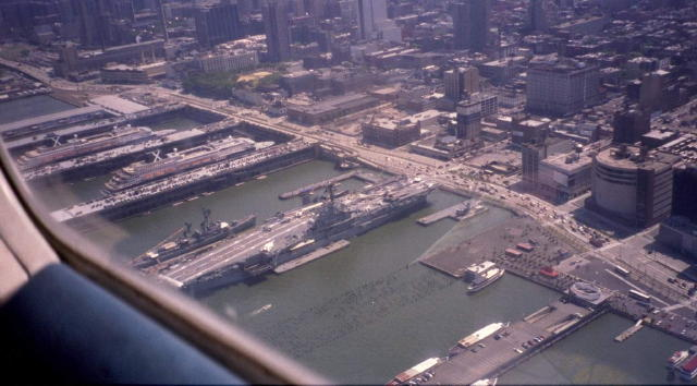 USS Intrepid Museum Aerial Photo